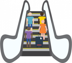 Escalator clipart cartoon