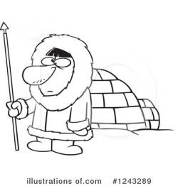 Eskimo clipart black and white