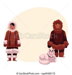 Eskimo clipart couple