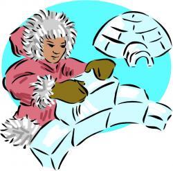 Eskimo clipart eskimo igloo