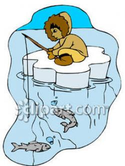 Eskimo clipart fishing