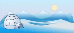 Eskimo clipart glacier