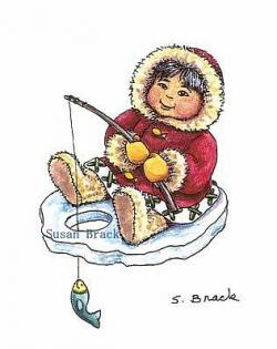 Eskimo clipart ice fishing