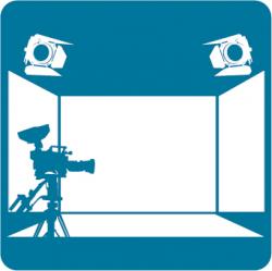 Estudio clipart tv studio