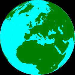 Drawn globe europe