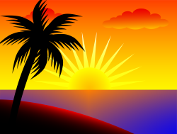 Coast clipart beach sunset