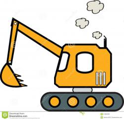 Excovator clipart construction project