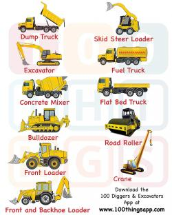 Excovator clipart road work