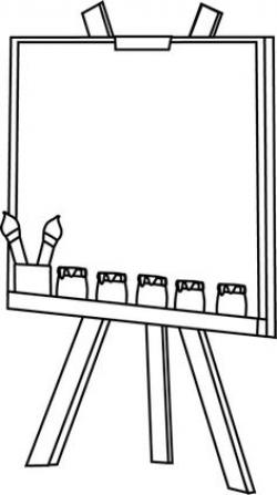 Exhibit clipart artist easel