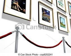 Gallery clipart art exhibition