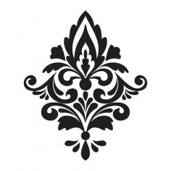 Damask clipart single