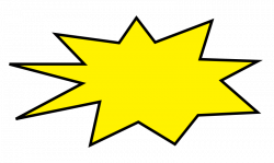 Explosions clipart starburst