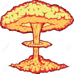 Nuclear Explosion clipart transparent background