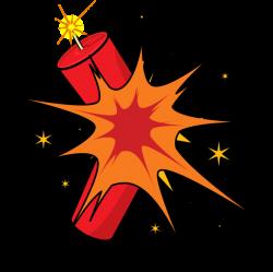 Comics clipart dynamite explosion