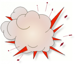 Explosions clipart animated