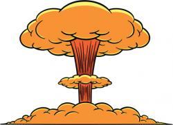 Explosions clipart atom bomb