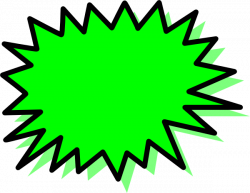 Explosions clipart blank