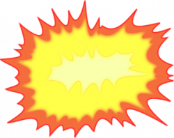 Explosions clipart bomb explosion