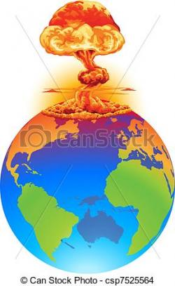 Explosions clipart earth