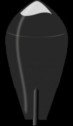 H-bomb clipart silhouette