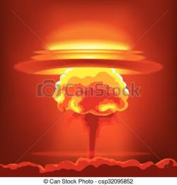 Nuclear Explosion clipart graphic