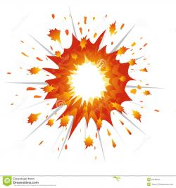 Explosions clipart orange