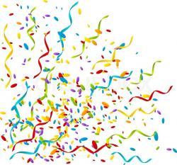Celebration clipart confetti