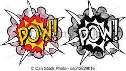 Explosions clipart pop art