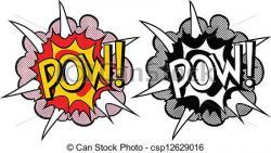 Explosions clipart pop art