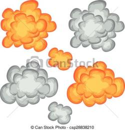 Explosions clipart smoke