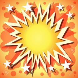 Explosions clipart star banner