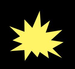 Comics clipart explosion