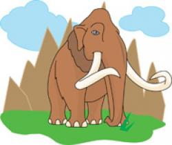 Mammoth clipart extinct animal