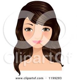 Brunette clipart brown hair