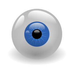 Drawn eyeball animated