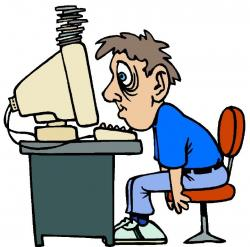 Computer clipart tired
