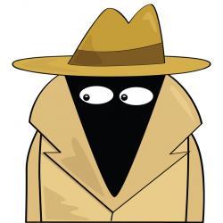Hiding clipart secret agent