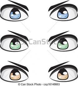 Eyeball clipart male eye
