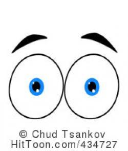 Eyeball clipart shocked eye