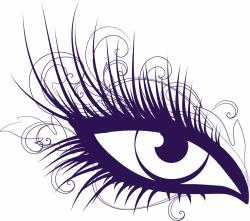 Eyelash clipart animated