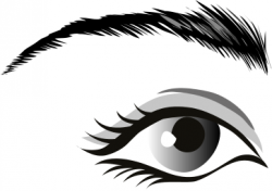 Eyelash clipart black and white