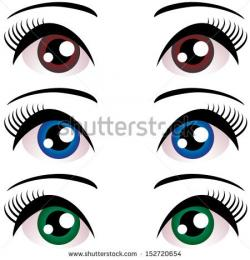 Eyelash clipart cartoon female