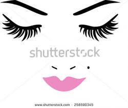 Eyelash clipart close eye