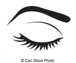 Eyelash clipart closed