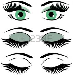 Eyelash clipart closed eye