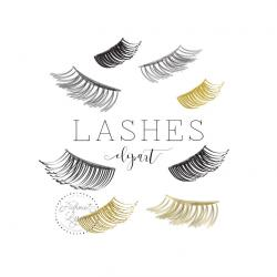 Eyelash clipart couple