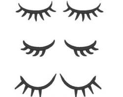 Eyelash clipart cute