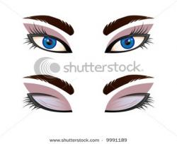 Eyelash clipart eyes shut