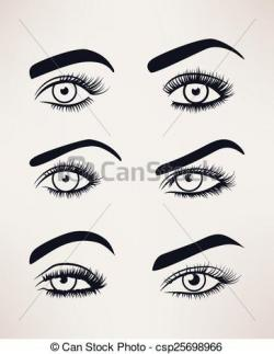 Eyelash clipart female eye