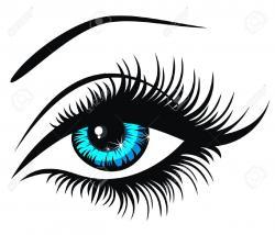 Eyelash clipart logo